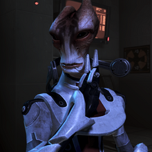 Mordin comes out