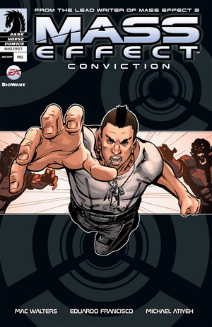 The cover of Mass Effect: Conviction