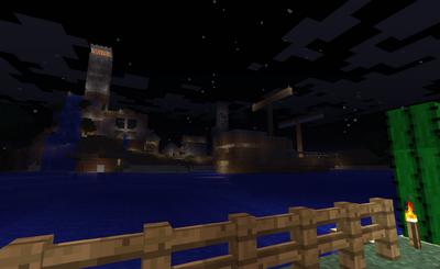 Dovahkiin City from afar at Night
