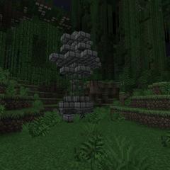 Stone tree as statue