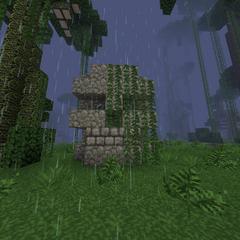 The jungle skull, with diamond eyes