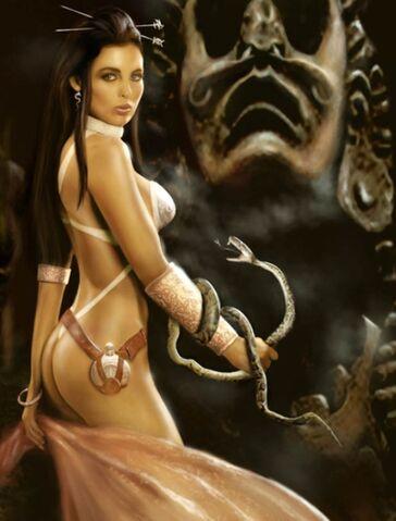 File:The Priestess of the Snake God by alserov.jpg