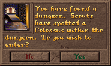 Encounter Dungeon Dialog