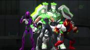 Team Turbo green armors