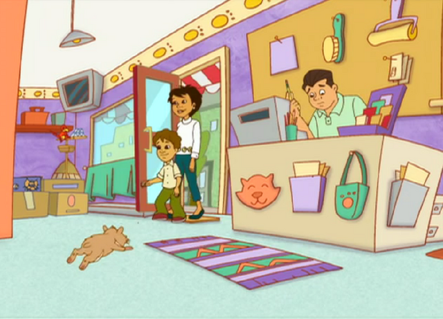 File:Give Me a Little Sign ScreenShot 001- Marco and his Mother Enter Pet Store.png
