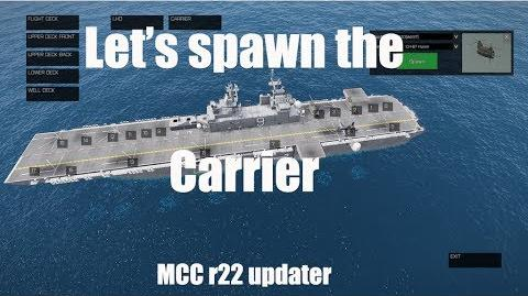 Spawn Carrier from Zeus - ArmA MCC r22 update