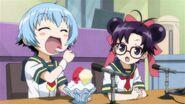 Shiranui and Asa hosting the swim meet