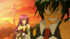 Medaka appears behind Hyuga