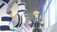 Zenkichi asks Onigase to cut Medaka some slack