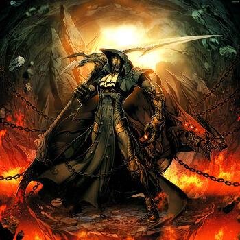 Iron mask black as death by genzoman-d4iim1r