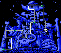 Captured Wily Castle Map