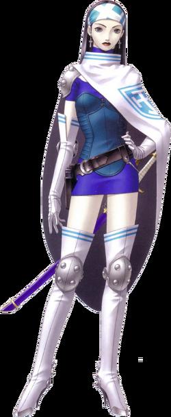 Retrato de Beth no remake de Shin Megami Tensei II.