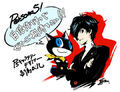 P5 llustration of the Protagonist and Morgenana by Shigenori Soejima.jpg