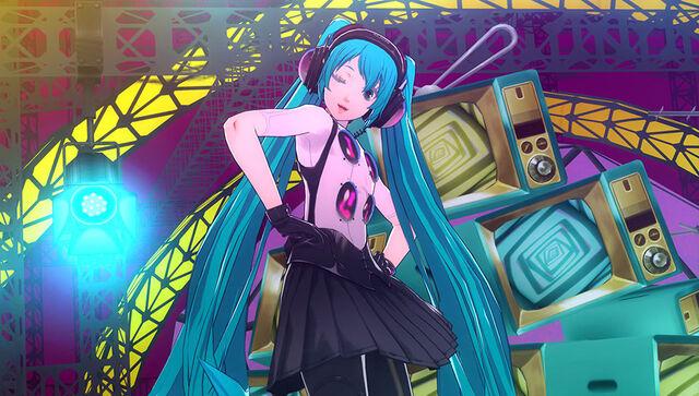 File:Hatsune Miku seen in game of P4D.jpg