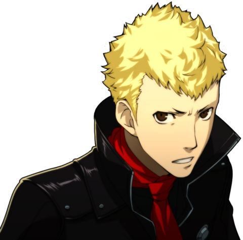 File:P5 portrait of Ryuji's phantom thief outfit without mask.png