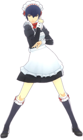File:P4D Naoto Shirogane maid uniform.png