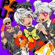 P4AU Illustration Halloween 2016 of Kanji, Naoto and Rise by Rokuro Saito