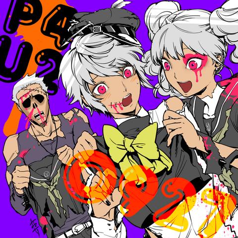 File:P4AU Illustration Halloween 2016 of Kanji, Naoto and Rise by Rokuro Saito.png