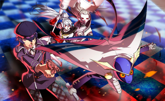 File:P4AU (P4 Mode, Naoto and Labrys ready for combat).png