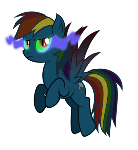 File:Rainbow Dash infected by dark magic by artist-tzolkine.png