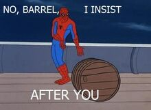 Spider-man-barrel