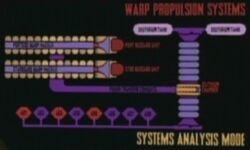 Warp propulsion systems graphic
