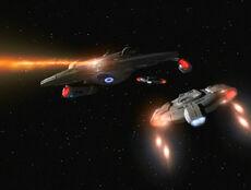 Akira and Defiants fire, 2374