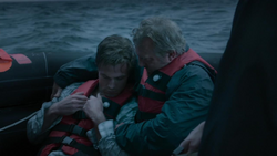 Oliver and Robert after the shipwreck