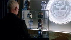 Damien Darhk with his trophies