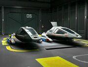 Type 9 shuttles in Intrepid class hangar