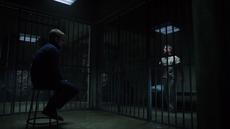 Oliver imprisons Slade in Lian Yu