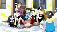 Natsu gets beat up by angry fangirls