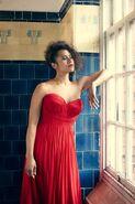 Angel red dress3