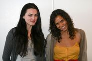 Katie McGrath and Angel Coulby-2