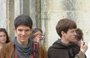 Colin Morgan and Alfie Stewart Behind The Scenes Series 5-3