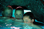 Rikki, Emma, And Cleo Hiding In Water