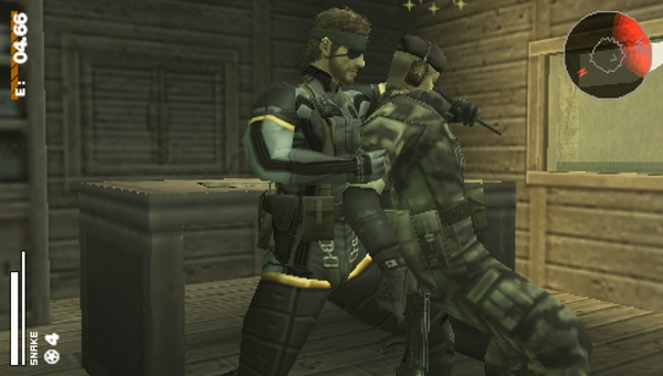 File:Big boss with a knock-outed soldier (MGS portable ops).jpg