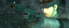MGS2 Solid Snake with M9, Tanker