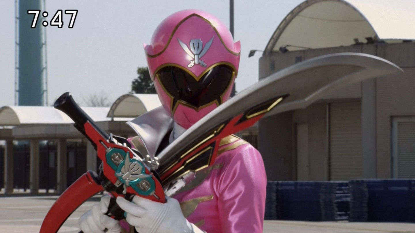 Japanese pink power ranger in trouble - 1 part 7