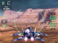 Storm Shrike in flight