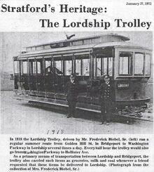 1918 LORDSHIP-BRIDGEPORT TROLLEY (NEWSPAPER STORY)