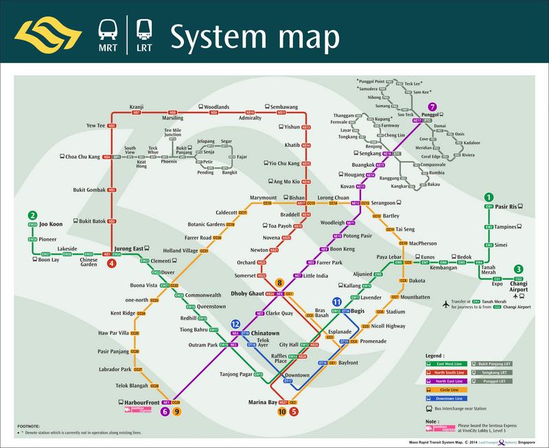 Mass Rapid Transit Map