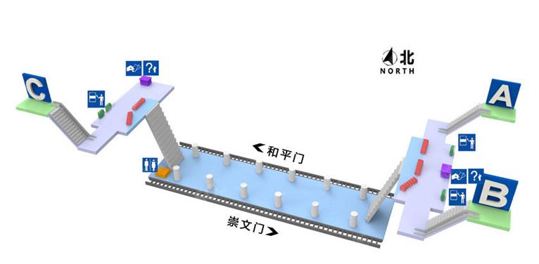 Qianmen BJ map
