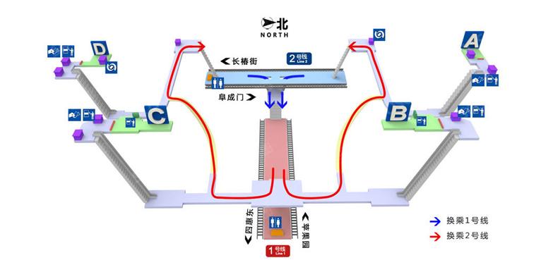Fuxingmen BJ map