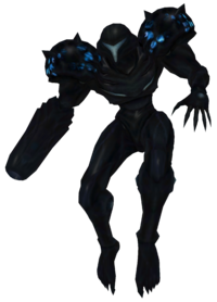 Dark Samus floating render