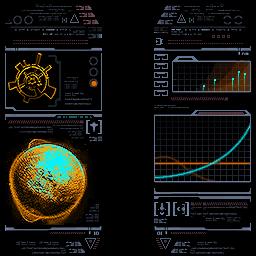"""Изображения сканирования Элизии, находящиеся в разделе Журнала """"Существа СкайТауна""""."""