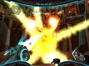 Chozo Observatory Jetpack Aerotrooper explosion