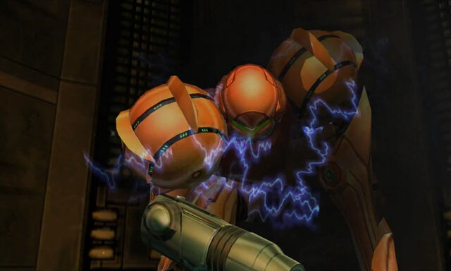 File:Connection Elevator to Deck Alpha Samus loses Varia Suit Dolphin HD.jpg