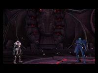 Dark Samus in Dark Aether