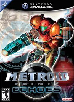 Обложка коробки Metroid Prime 2: Echoes.